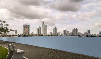 """""""Skyline desde el mar"""", 2013 Panama City. 200 x 100 cm"""
